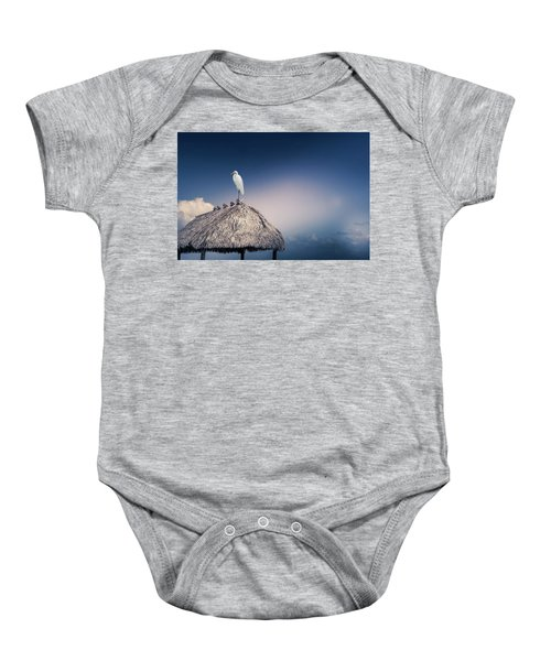Thatched Roof  Baby Onesie