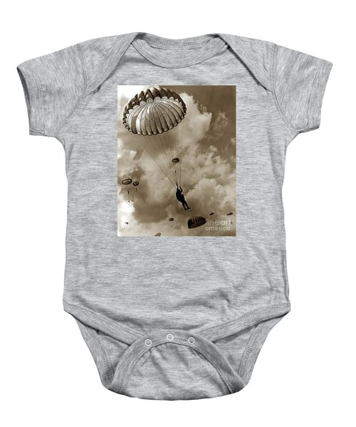 The 82nd Airborne  Hits The Silk Fort Ord 1953 Baby Onesie