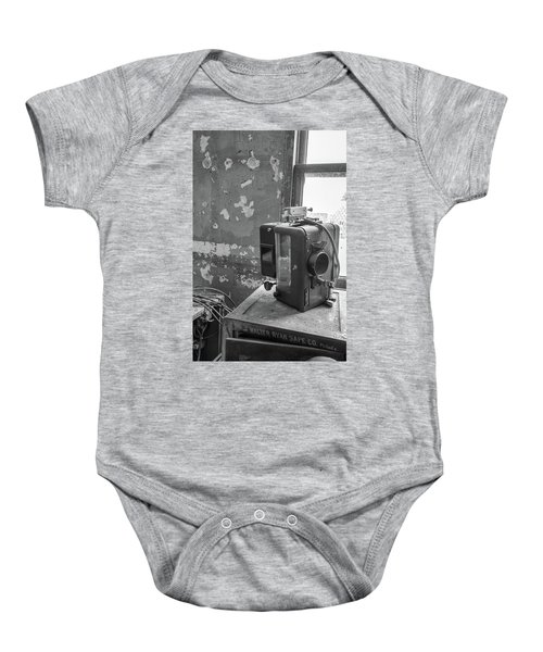 The Abandoned Projector Bw Baby Onesie