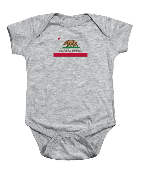 The Bear Flag - State Of California Baby Onesie by War Is Hell Store