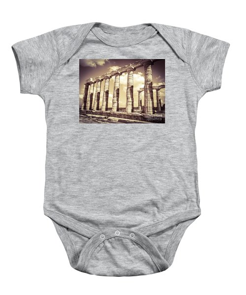 The Beauty Of The Temple Of Poseidon Baby Onesie