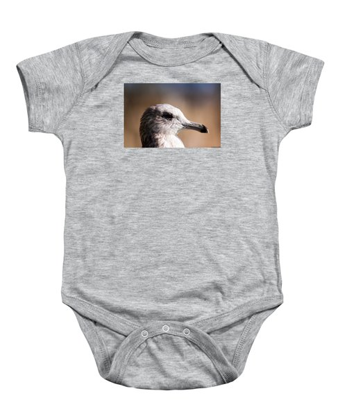 Baby Onesie featuring the photograph The Best Side Of The Gull by Lora Lee Chapman