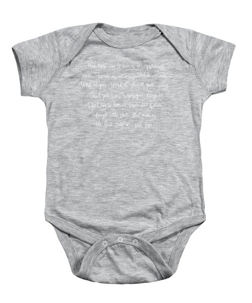 The Best Way To Live Baby Onesie