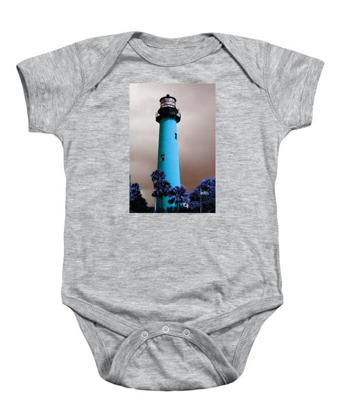 The Blue Lighthouse Baby Onesie