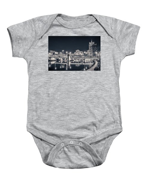 Baby Onesie featuring the photograph The Bright Dark Of Night by Bill Pevlor