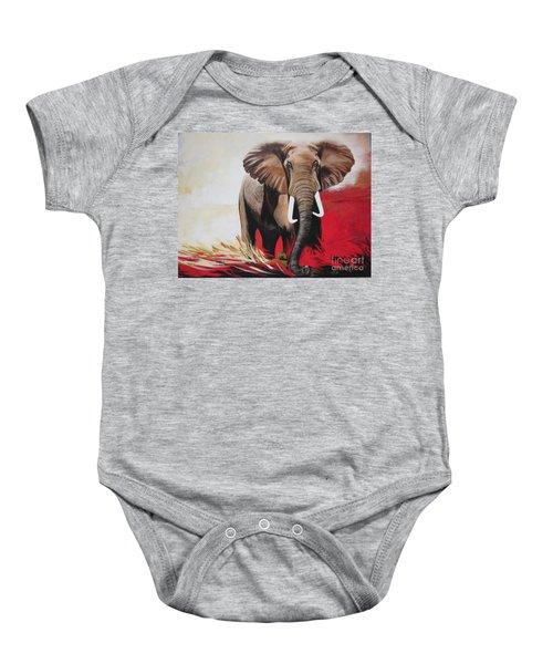 Win Win - The  Bull Elephant  Baby Onesie