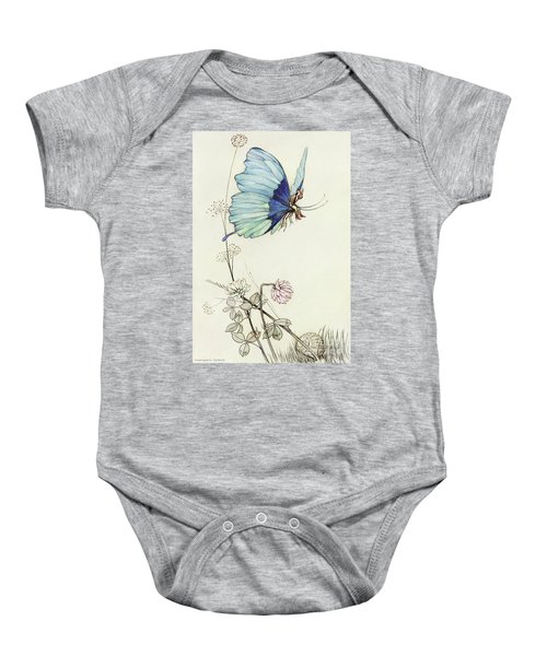 The Butterfly Took Wing, And Mounted Into The Air With Little Tom Thumb On His Back Baby Onesie