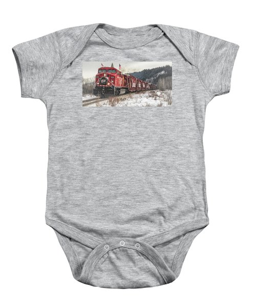 The Canadian Pacific Holiday Train Baby Onesie