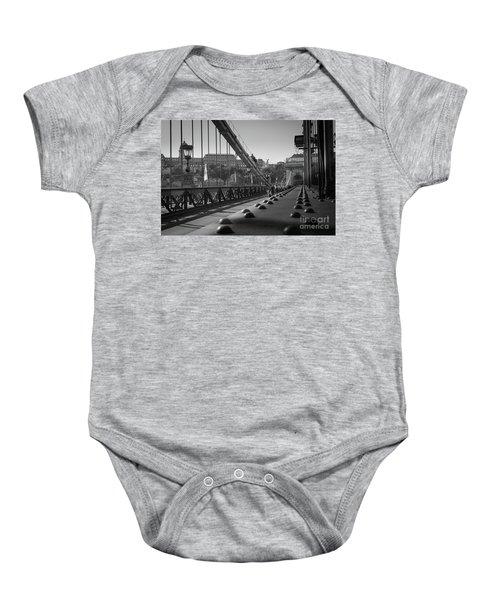 The Chain Bridge, Danube Budapest Baby Onesie