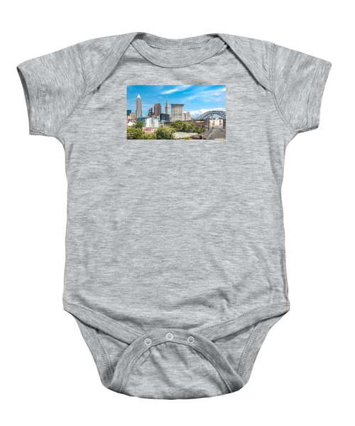 The Cleveland Skyline Baby Onesie