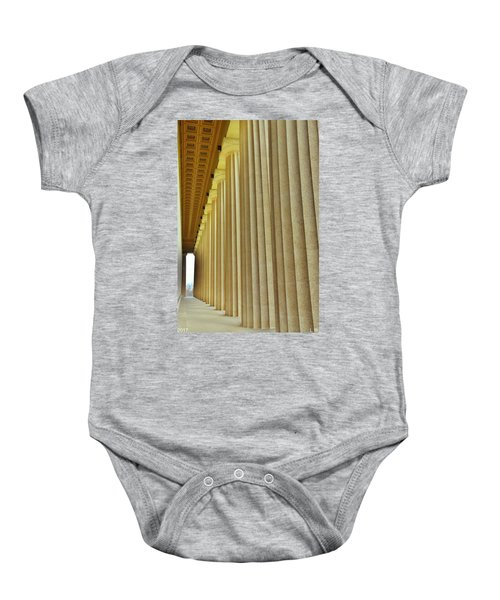 The Columns At The Parthenon In Nashville Tennessee Baby Onesie