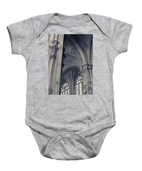 The Columns Of Saint-eustache, Paris, France. Baby Onesie by Richard Goodrich