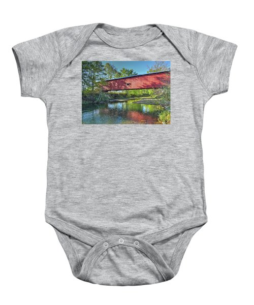 The Crooks Covered Bridge - Sideview Baby Onesie