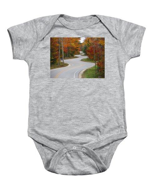 The Curvy Road Baby Onesie