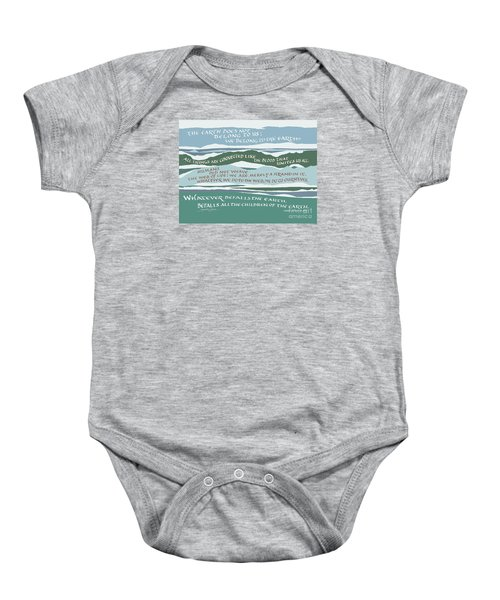 The Earth Does Not Belong To Us Baby Onesie