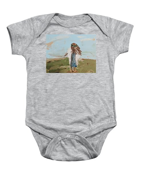 The Edge Of The Field Baby Onesie