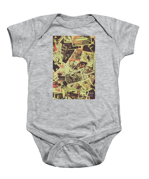 The English Postage Scene Baby Onesie