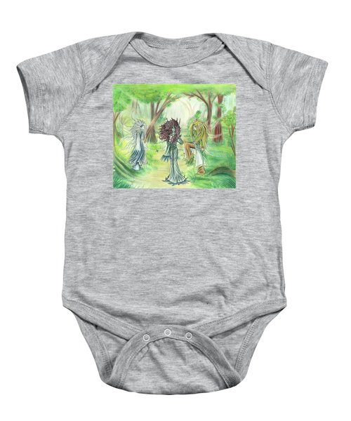 The Fae - Sylvan Creatures Of The Forest Baby Onesie