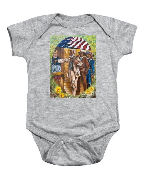 Historical  Artwork     First Vote - 1867 Baby Onesie