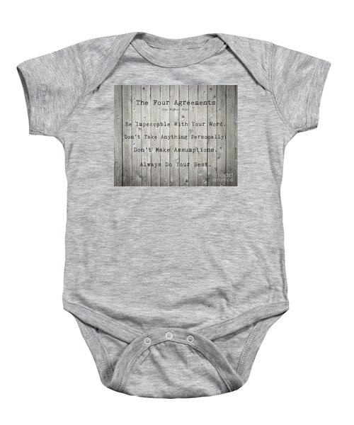 The Four Agreements 12 Baby Onesie