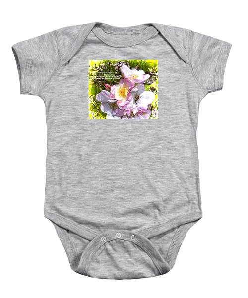 The Frailty Of Summer Roses And Of Love Baby Onesie