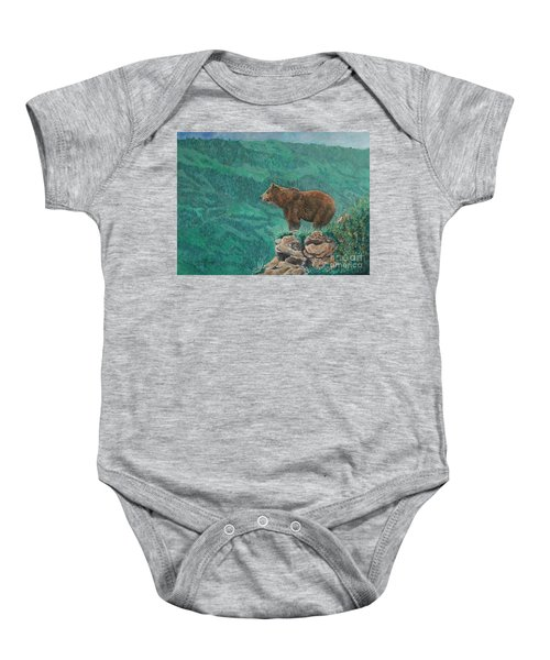 The Franklin Grizzly Bear Baby Onesie