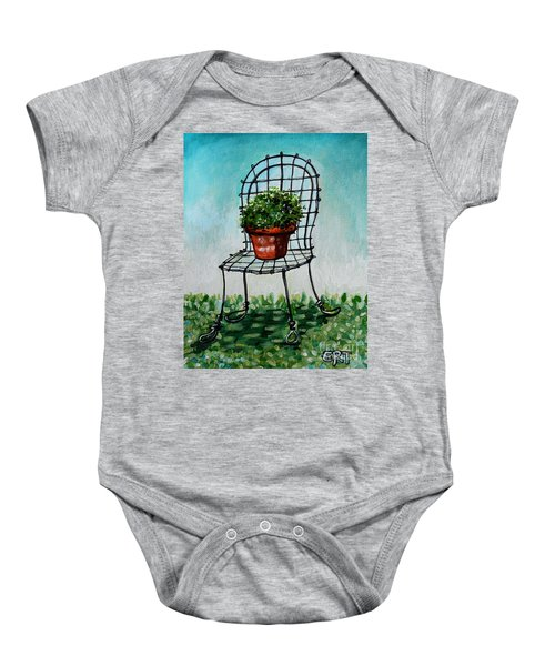 The French Garden Cafe Chair Baby Onesie