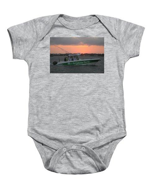 The Greene Turtle Power Boat Baby Onesie
