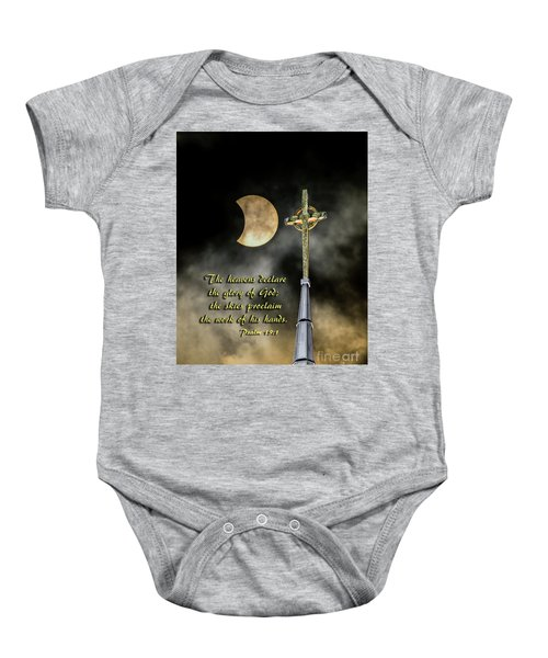 The Heavens Declare The Glory Of God Baby Onesie