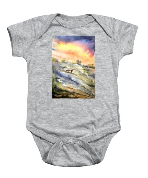 The Hill Of The Foxes Baby Onesie