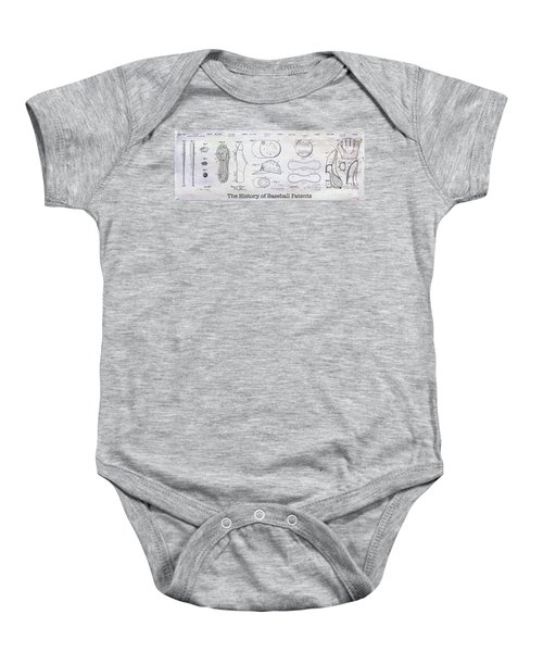 The History Of Baseball Patents Baby Onesie