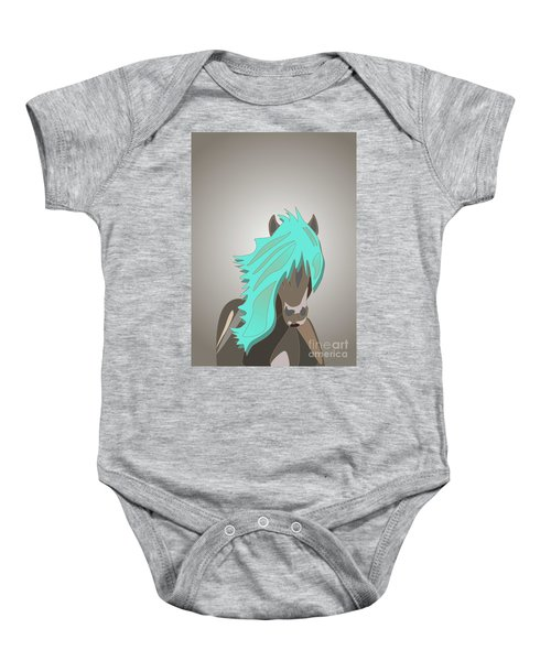 The Horse With The Turquoise Mane Baby Onesie