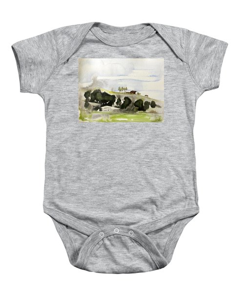 The House On The Hill Baby Onesie