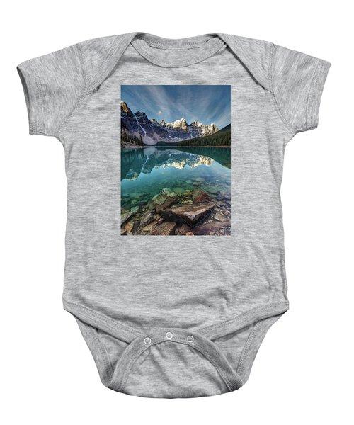 The Iconic Moraine Lake Baby Onesie