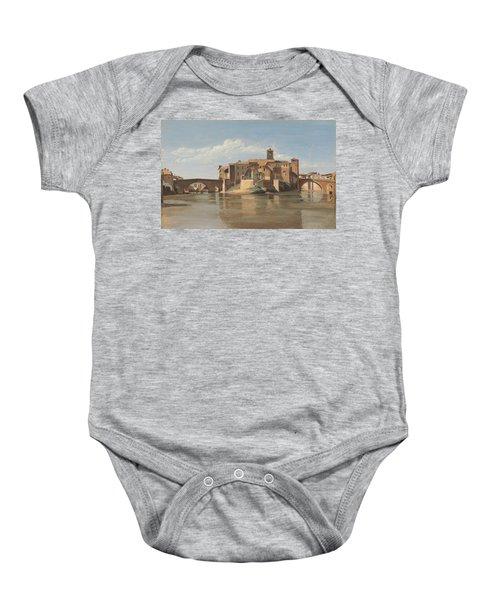 The Island And Bridge Of San Bartolomeo - Rome Baby Onesie