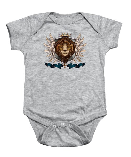 The King's Heraldry II Baby Onesie by April Moen