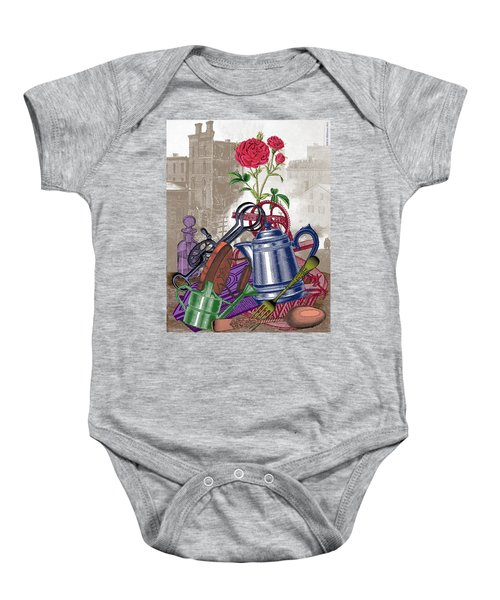 The Land Of Lost Ladders Baby Onesie