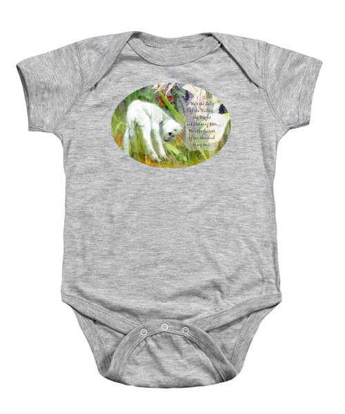 The Lily Of The Valley - Lyrics Baby Onesie