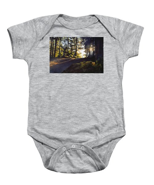 The Long Way Home Baby Onesie