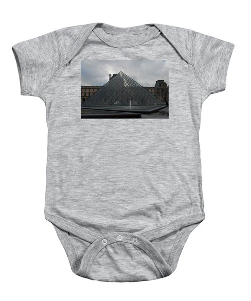The Louvre And I.m. Pei Baby Onesie
