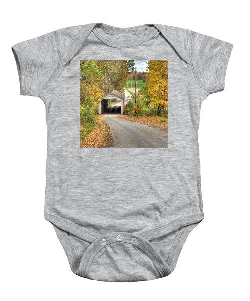 The Melcher Covered Bridge Baby Onesie
