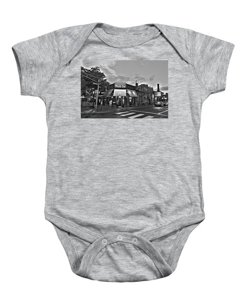 The Middle East In Central Square Cambridge Ma Black And White Baby Onesie