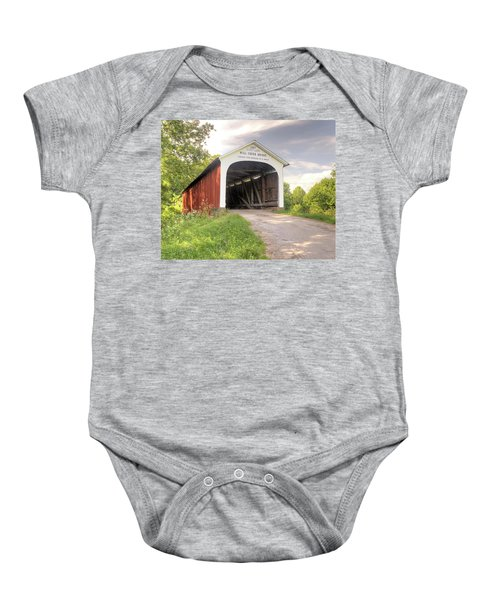 The Mill Creek Covered Bridge Baby Onesie