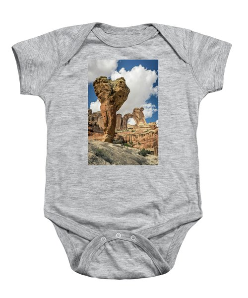 The Molar And Angel Arch Baby Onesie