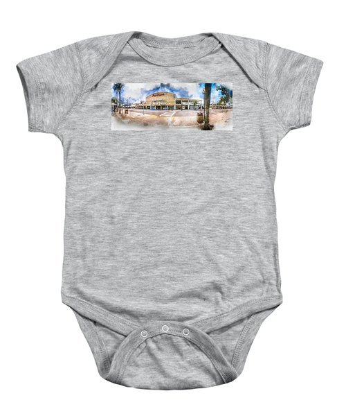 The Myrtle Beach Pavilion - Watercolor Baby Onesie