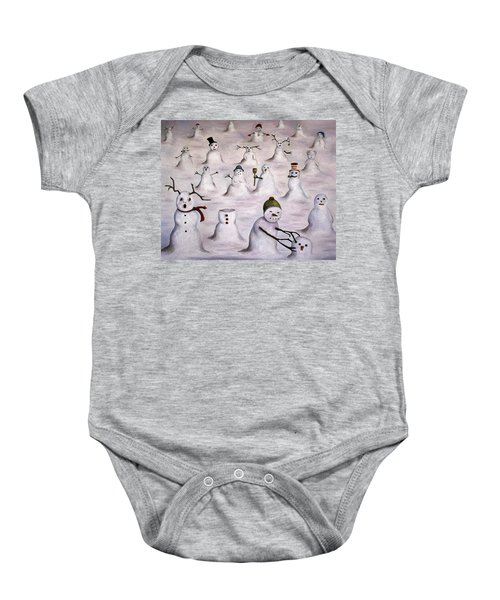 The Mystery Revealed On Snowman Hill Baby Onesie