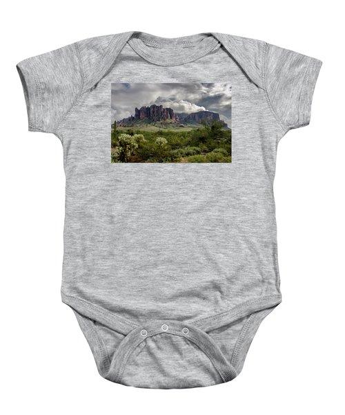 The Mystic Mountain  Baby Onesie