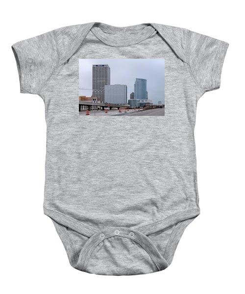 Baby Onesie featuring the photograph The New Milwaukee Skyline by Randy Scherkenbach