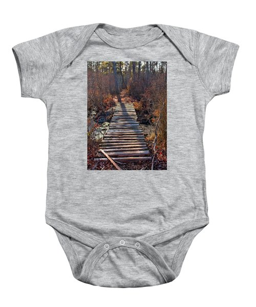 The Path Less Traveled  Baby Onesie
