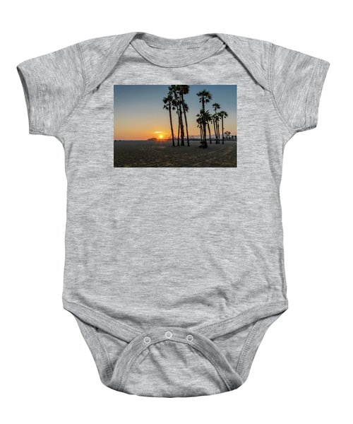 The Pier At Sunset Baby Onesie